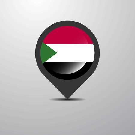 Sudan Map Pin 일러스트
