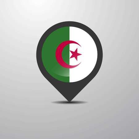 Alegeria Map Pin