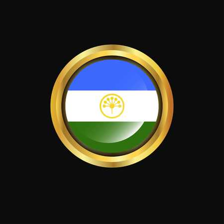 Bashkortostan flag Golden button