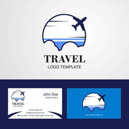 Travel Altai Republic Flag Logo and Visiting Card Design