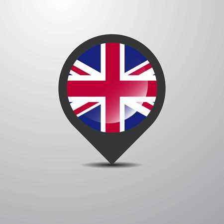 United Kingdom Map Pin Ilustrace