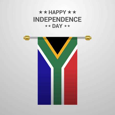 South Africa Independence day hanging flag background