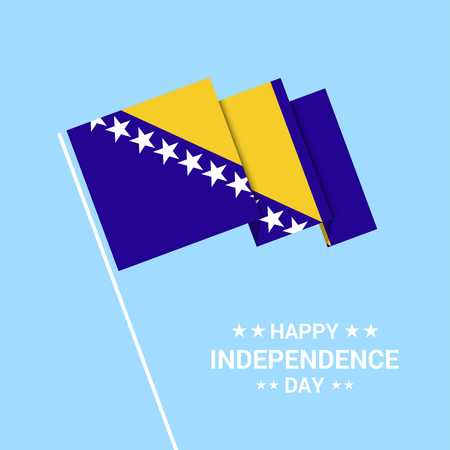 Bosnia and Herzegovina Independence day typographic design with flag vector