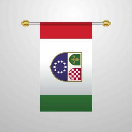 Bosnia and Herzegovina hanging Flag