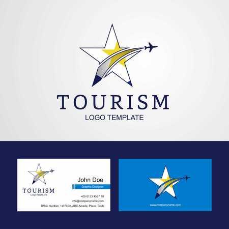 Travel saba flag Creative Star Logo and Business card design