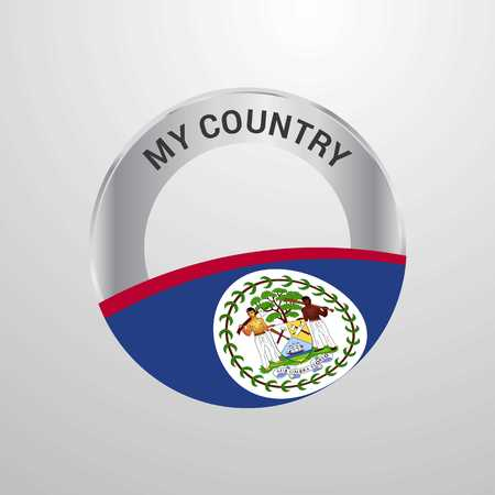 Belize My Country Flag badge