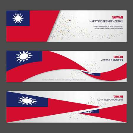 Taiwan independence day abstract background design banner and flyer, postcard, landscape, celebration vector illustration