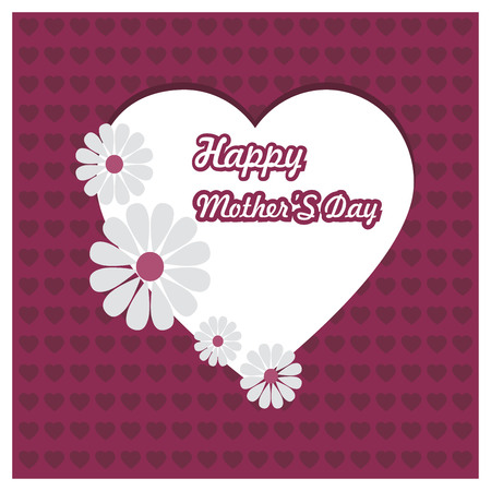 Happy Mothes day design with creative typography vector