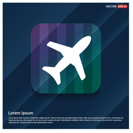 Airplane icon Illustration