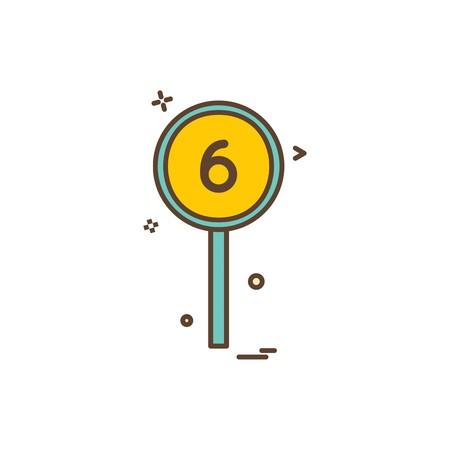 six batsman short cricket icon vector design Illustration