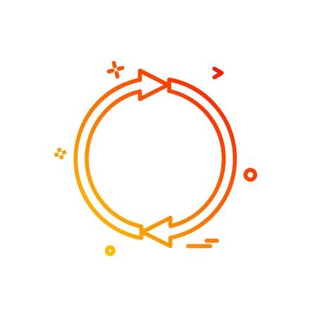 Refresh icon design vector