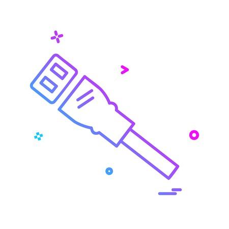lan cable icon design vector