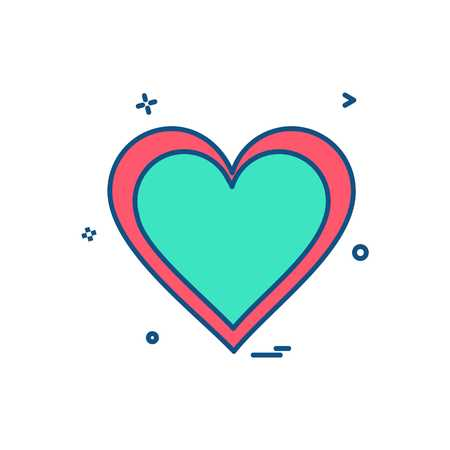 heart icon design vector