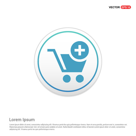 Shopping Cart and plus Sign - white circle button