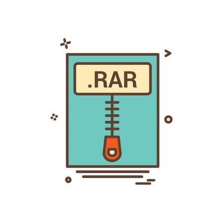 file files rar icon vector design