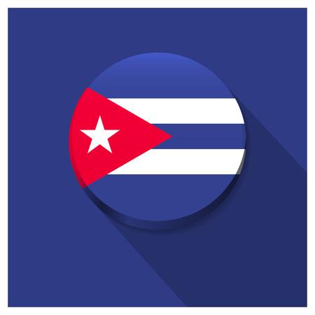 Cuba flag design vector Иллюстрация