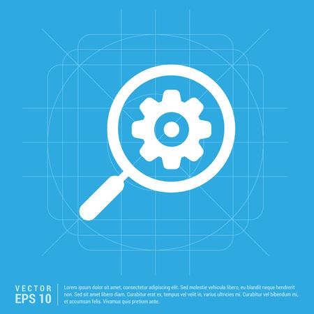 Search Gear Icon Ilustración de vector