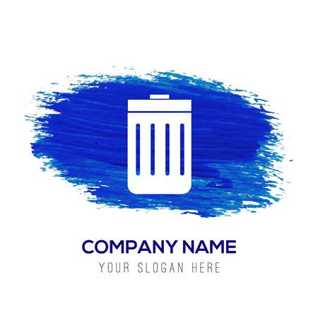 delete icon - Blue watercolor background 矢量图像