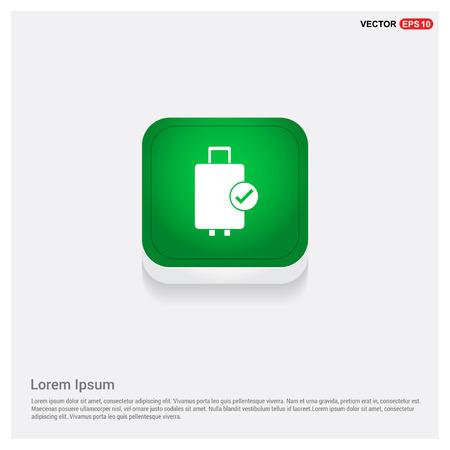 Bag iconGreen Web Button - Free vector icon