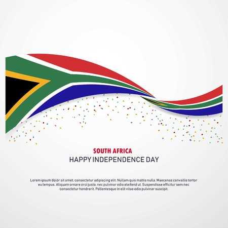 Zuid-Afrika Gelukkige onafhankelijkheidsdag Achtergrond Vector Illustratie