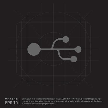USB Symbol icon Illustration
