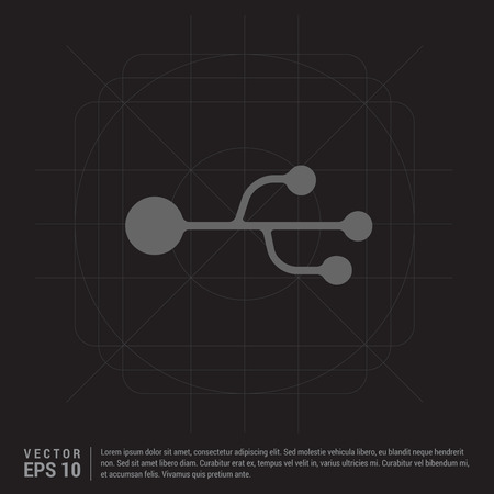 USB Symbol icon  イラスト・ベクター素材