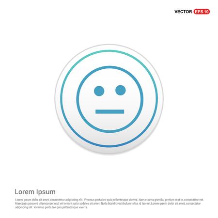 smiley icon, Face icon - white circle button