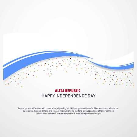 Altai Republic Happy independence day Background