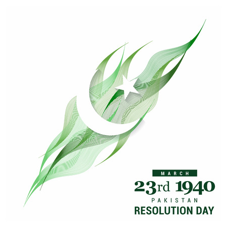 Pakistan Resolution day design vector