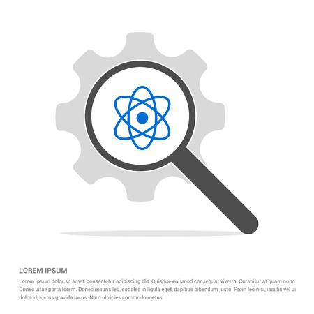 Atom sign icon - Free vector icon Vettoriali
