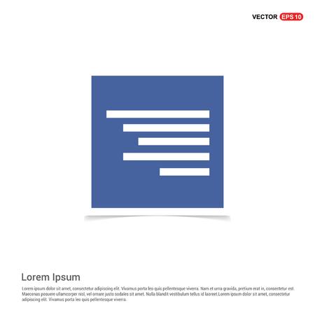 Document align icon - Blue photo Frame