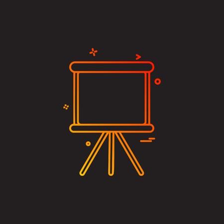 projet stande graphique papier icône vecteur desige