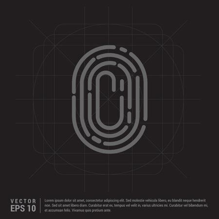 Fingerprint App icon Illustration