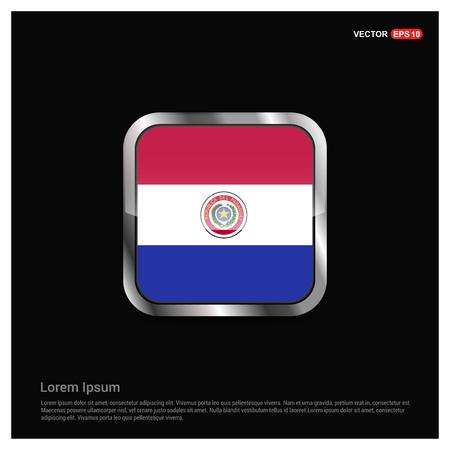 Paraguay flags design vector