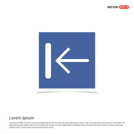 Rewind Icon - Blue photo Frame Illustration
