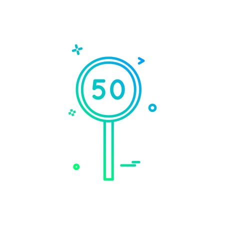 fifty batsman cricket icon vector design Ilustração