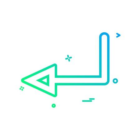 arrow left  sign traffic icon vector design