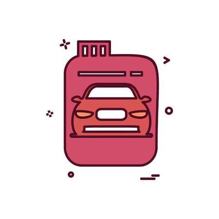 Fuel can  gas can  car  icon vector design Vectores
