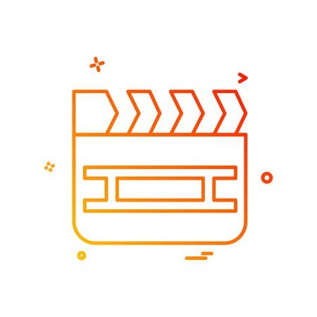 Movie icon design vector Illustration