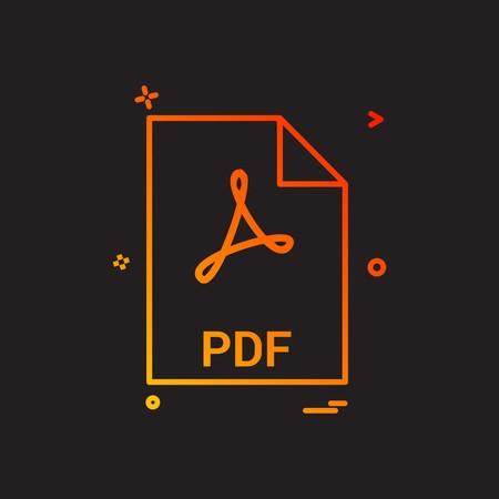 pdf file file extension file format icon vector d