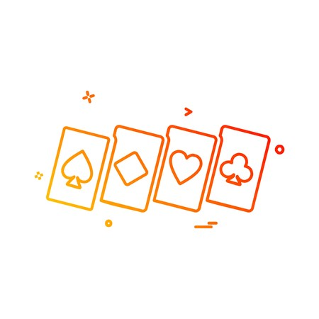 Poker icon design vector