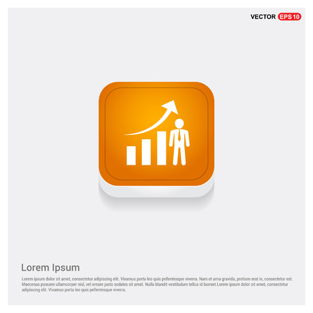 Business Man with Growing graph Icon