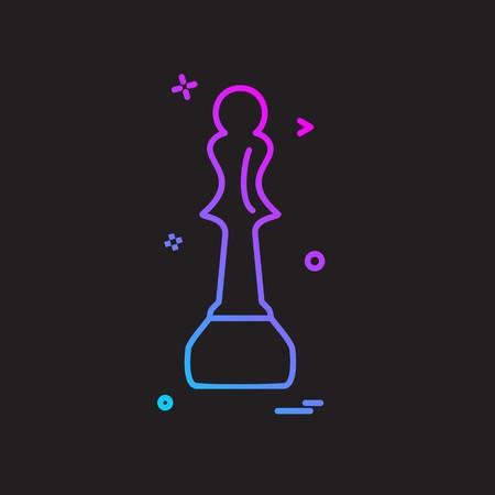 Vettore di disegno dell'icona di scacchi