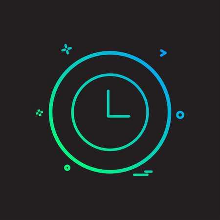 clock basic icon vector design