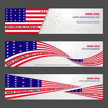 Bikini Atoll independence day abstract background design banner and flyer, postcard, landscape, celebration vector illustration 矢量图像