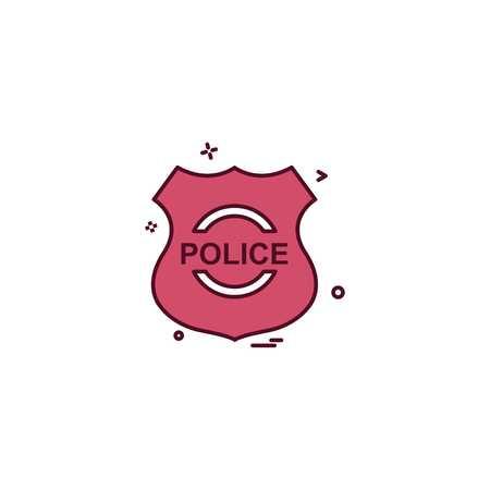 police shield emblem force icon vector design Illustration