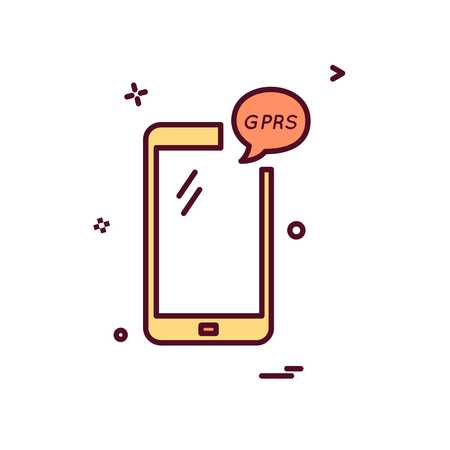 GPRS Phone icon design vector Illustration