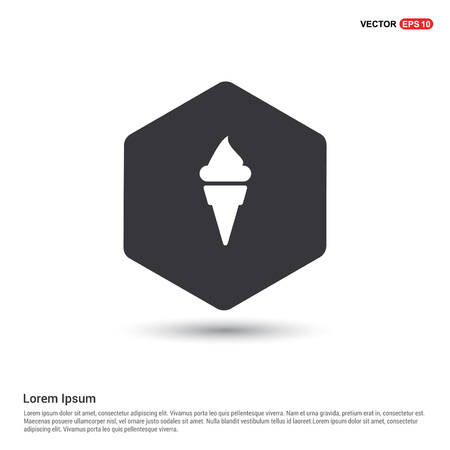 Cone Ice Cream Icon Ilustrace