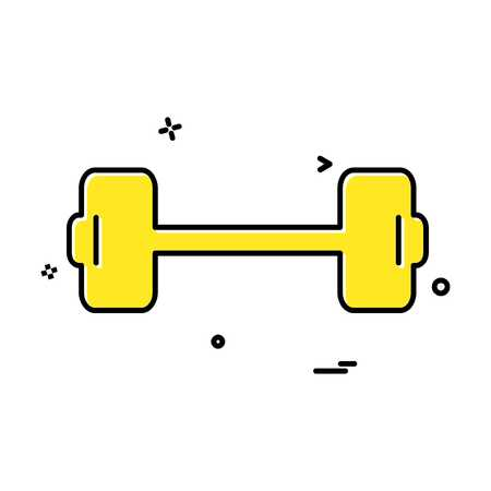 Dumbell icon design vector Stock Vector - 118305945