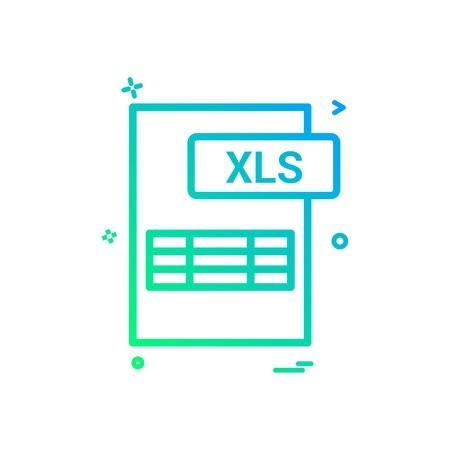 xls file format icon vector design